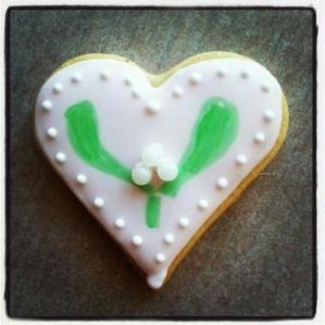biscuit décoré gui
