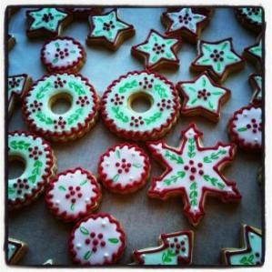 biscuits décorés Noël
