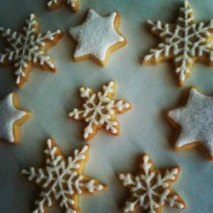 biscuits décorés flocons de neige