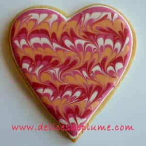 biscuit coeur marbré