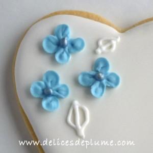 Biscuit fleurs d'hortensia