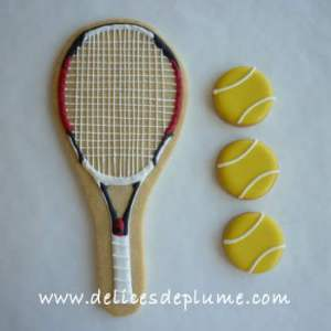 Biscuits raquette tennis