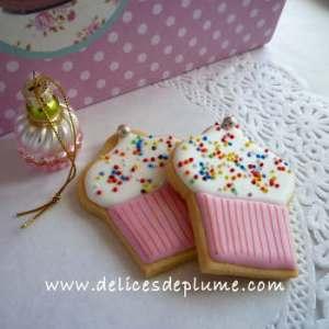 biscuits décorés cupcakes