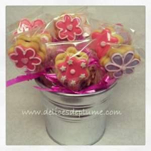 Bouquet de biscuits décorés