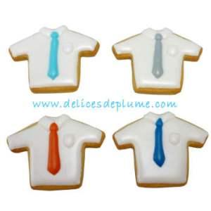 Biscuits décorés chemisettes