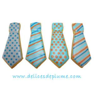 Biscuits décorés cravates