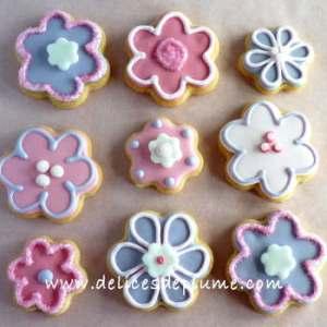 Biscuits décorés fleurs