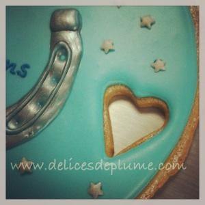 Biscuit décoré bleu étoiles