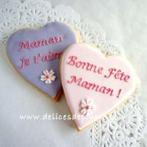 uiBiscuits coeurs Maman je t'aime