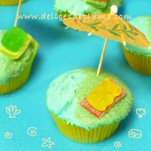 Cupcakes plages