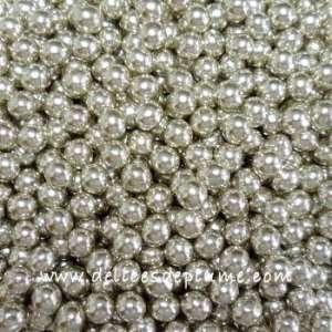 Perles en sucre argentées