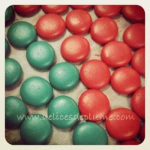 macarons rouges et vert