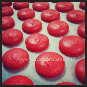 Macarons rouges