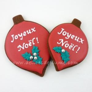 Biscuits boules de Noël