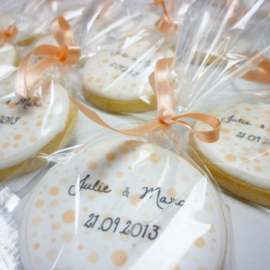Biscuits imprimés mariage Julie et Marc