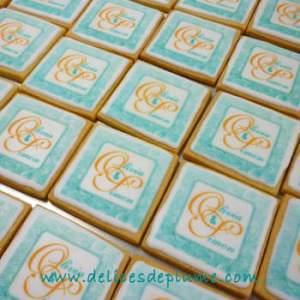Biscuits mariage imprimés