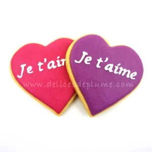 Biscuits coeurs je t'aime