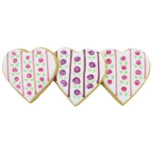 Biscuits décorés coeur shabby chic