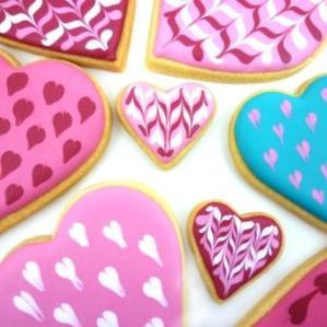 Sablés décorés coeurs
