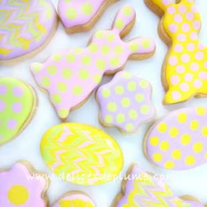 Biscuits décorés de Paques