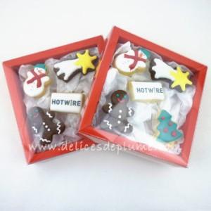 Boite biscuits décorés Noël