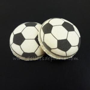 Macarons décorés ballons de foot