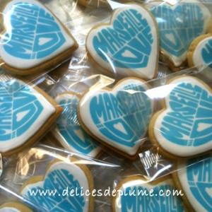 biscuits décorés logo