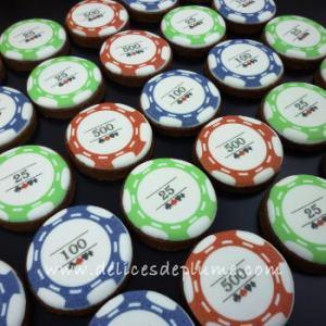 biscuits décorés poker