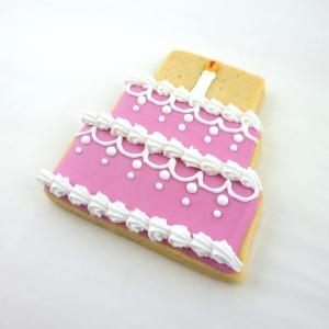 biscuit décoré gâteau rose