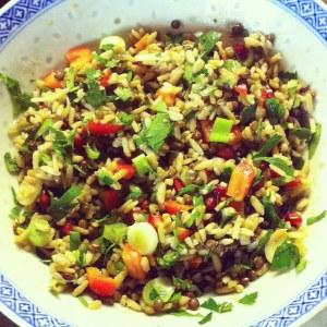 salade riz lentilles