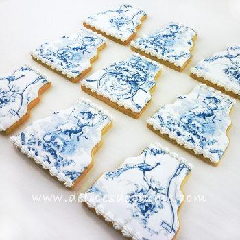 Biscuits toile de Jouy