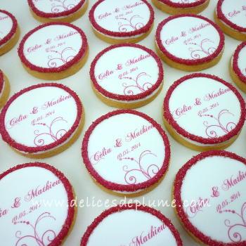 Biscuits personnalisés pour mariage