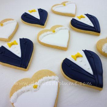 Biscuits de mariage mariés