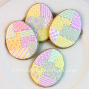 Biscuits oeufs de Pâques patchwork