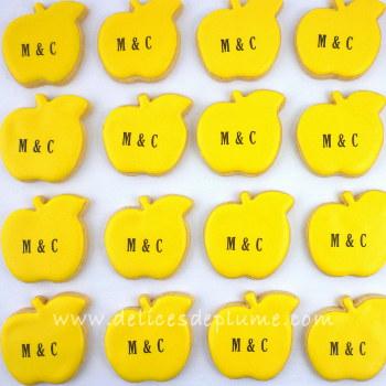 Sablés pommes jaunes