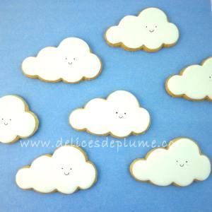 Sablés décorés nuages
