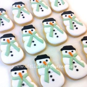 biscuits bonhmme de neige